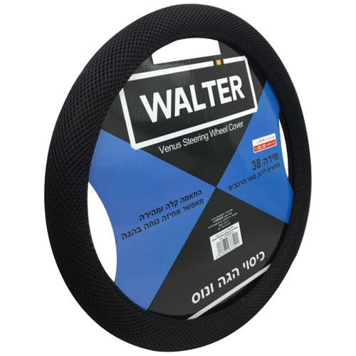 כיסוי הגה ונוס שחור WALTER