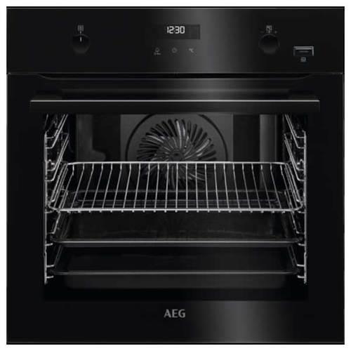 תנור בנוי פירוליטי שחור AEG SteamBake טורבו
