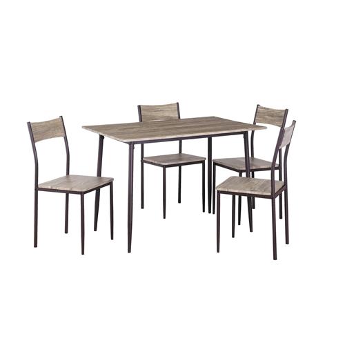פינת אוכל מעוצבת מעץ שולחן + 4 כסאות דגם 5143
