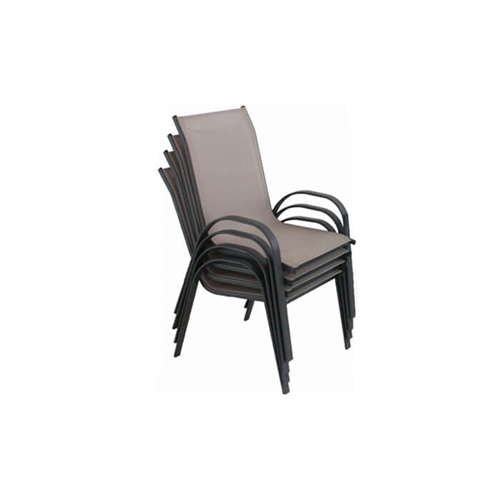 סט 4 כסאות עם בד רשת קל משקל