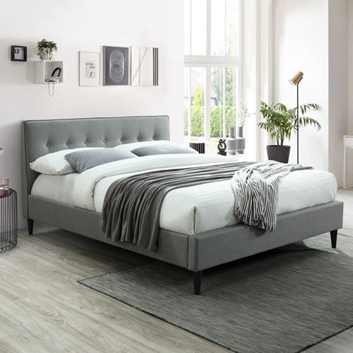 מיטת זוגית מעוצבת בריפוד בד HOME DECOR דגם פוני