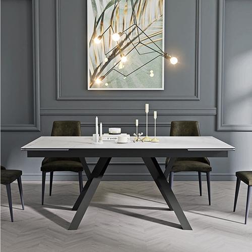 שולחן אוכל קרמיקה מפואר HOME DECOR דגם מדריד
