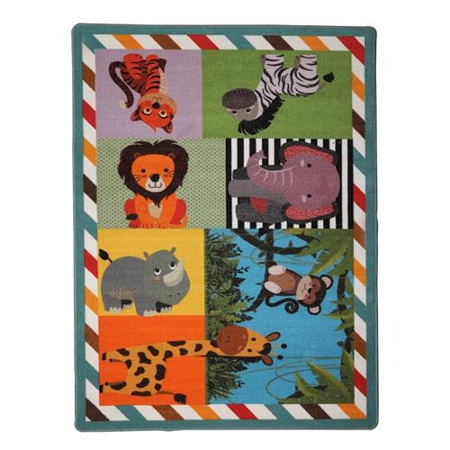 שטיח איכותי וצבעוני לחדרי ילדים דגם גן חיות–ביתילי