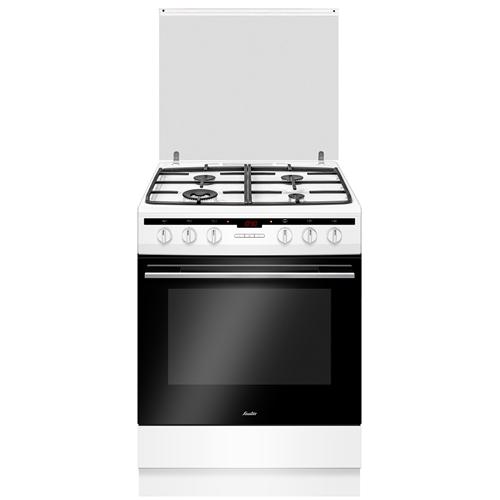 תנור משולב לבן רחב 4 מבערים מבית SAUTER