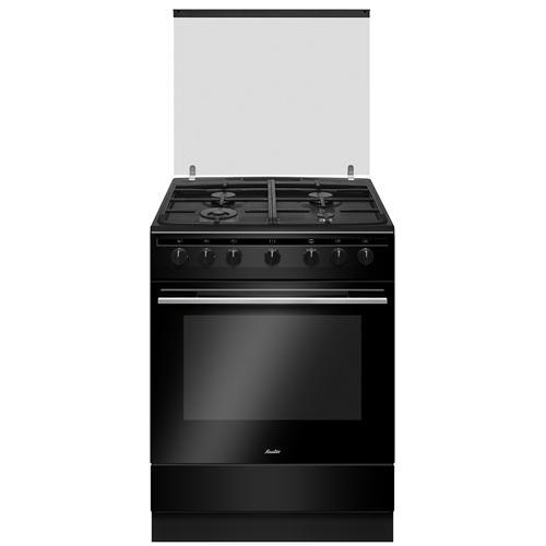 תנור משולב שחור רחב 4 מבערים מבית SAUTER