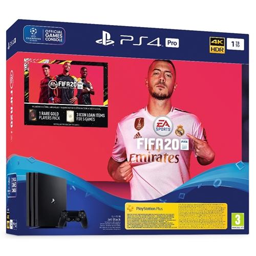 PLAYSTATION PRO 4K + בקר ומשחק FIFA20