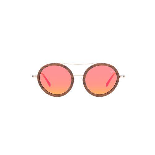 משקפי שמש מסגרת עץ עגול לנשים דגם Floyd