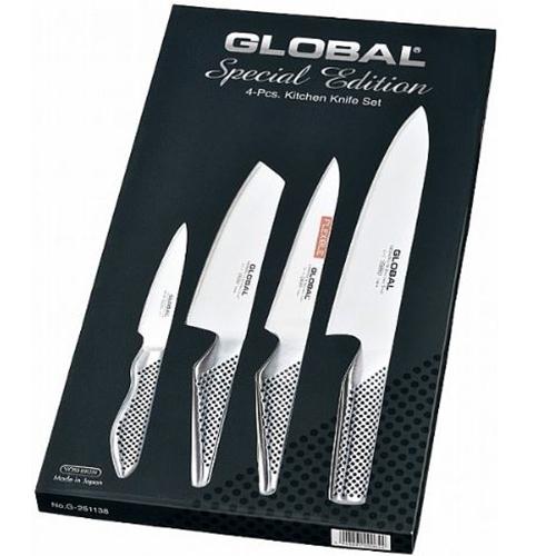 סט 4 סכינים מקצועיות ואיכותיות מבית GLOBAL
