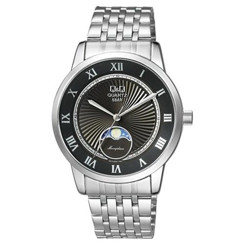 שעון יד אנלוגי לגבר מתכתי מבית Q&Q