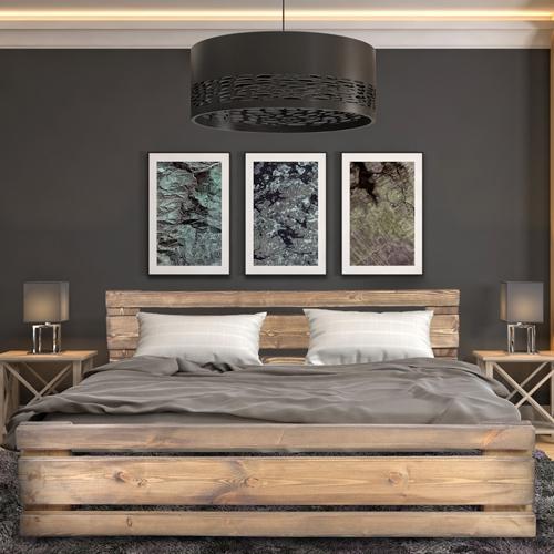 מיטה זוגית מעץ מלא בעיצוב חדשני דגם 5025