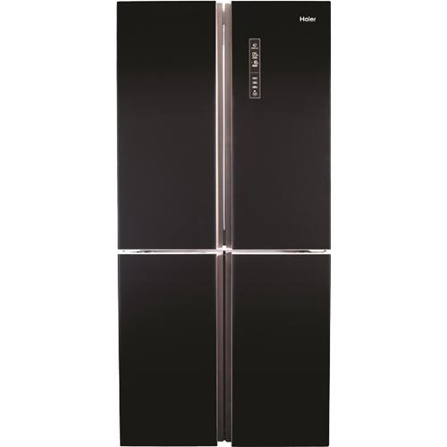 מקרר 4 דלתות בנפח 657 ליטר זכוכית שחורה HRF-725FB