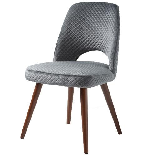 כיסא לפינת אוכל בעיצוב רטרו אפור דגם בריט – ביתילי