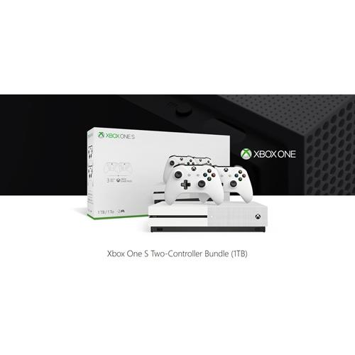 קונסולה XBOX ONE S 1TB + שני בקרים