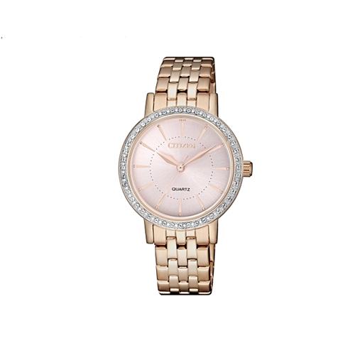 שעון יד אלגנטי לאישה עם אבני סבורבסקי מבית CITIZEN