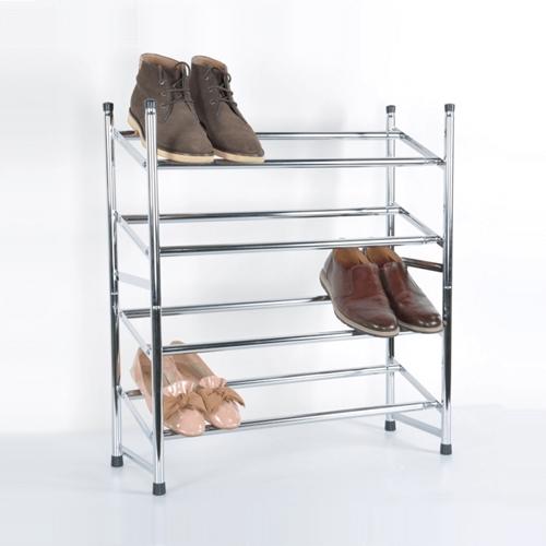 מעמד איכותי לנעליים בעל 4 שלבים מתכוונן לרוחב