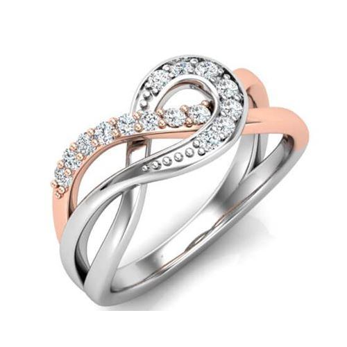 טבעת יהלומים מעוצבת לאישה