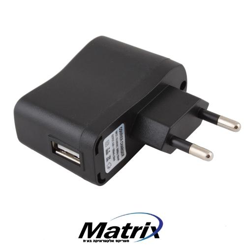 מטען בחיבור USB לנגני MP3/MP4 ומצלמות