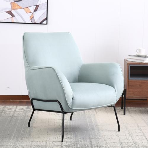 כורסא מעוצבת מרופדת בד רחיץ  HOME DECOR