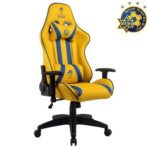 כיסא גיימינג רשמי מכבי תל אביב DRAGON דגם OLYMPUS