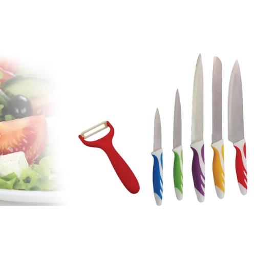סט 5 סכינים + קולפן קרמי פרימיום PLANERO