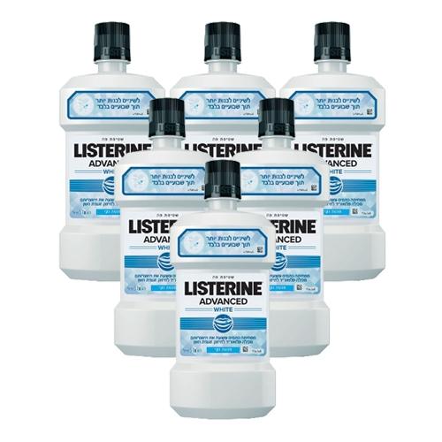 מארז חסכוני 6 בקבוקי מי פה ליסטרין ADVANCED WHITE