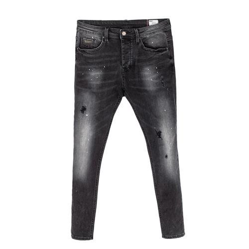 ג'ינס סלים שחור משופשף