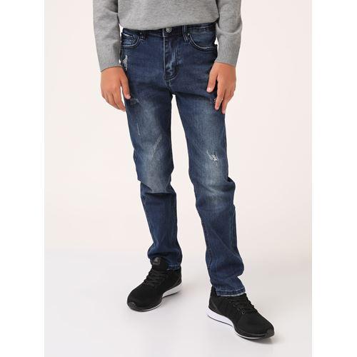 ג'ינס סטרייט פיט קרעים