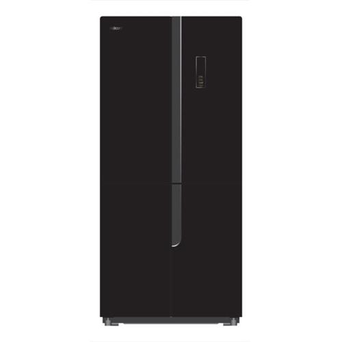 מקרר 4 דלתות Fujicom דגם FJ-NF480BK זכוכית שחורה