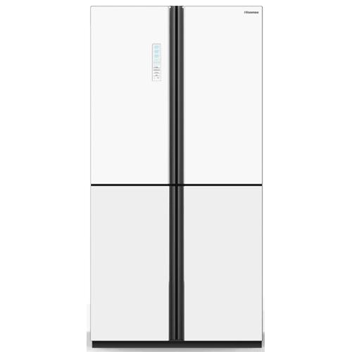 מקרר 4 דלתות Hisense RQ82WGKI זכוכית לבנה