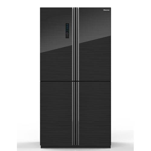 מקרר 4 דלתות Hisense RQ82BGKI זכוכית שחורה
