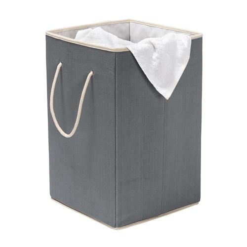 סל כביסה אפור מרובע קשיח וחזק