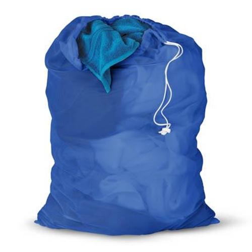שק כביסה חזק ועמיד קל לנשיאה צבע כחול