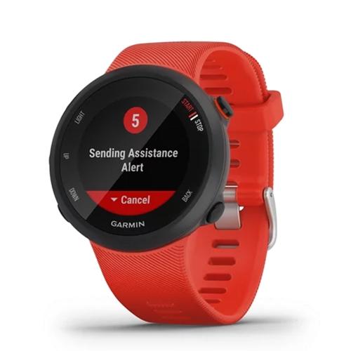 שעון ריצה ספורט GPS דגם Forerunner 45 אדום