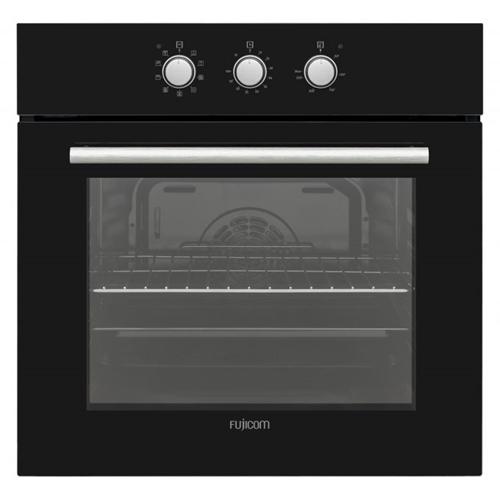 תנור בנוי מכני 9 תוכניות בישול ואפייה FUJICOM שחור
