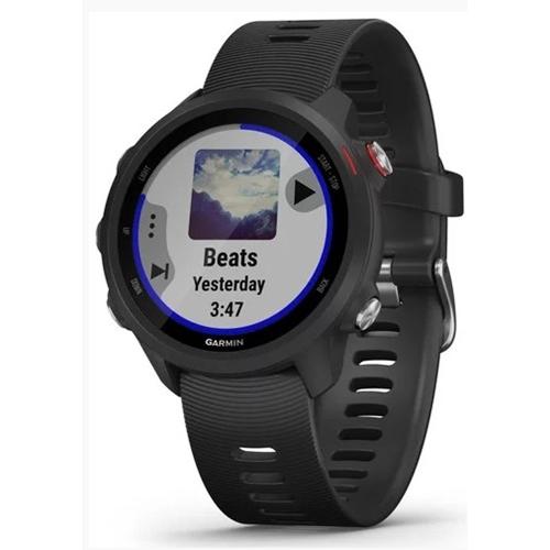 שעון ספורט לריצה דגם Forerunner 245 Music שחור