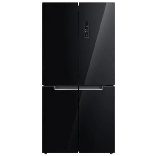 מקרר 4 דלתות אמקור 482 ליטר זכוכית שחורה AM4550GB