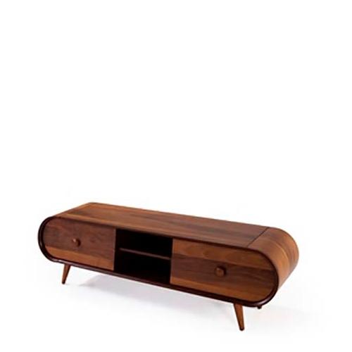 מזנון בצבע עץ עם 2 מגירות גדולות דגם כרמל LEONARDO