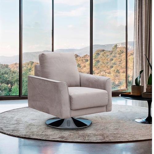 כורסא מעוצבת מרופדת בד רחיץ דגם בריטני