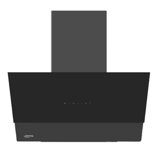 """קולט אדים ארובה 60 ס""""מ זכוכית שחורה דגם CH60GB"""