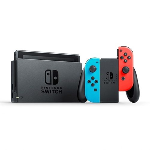 Nintendo Switch V1.1 with Neon Blue & Red Joy‑Con
