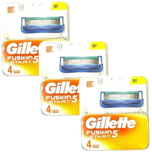 ג'ילט פיוזן 12 סכיני גילוח Gillette Fusion Start 5