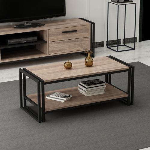 שולחן סלון קלאסי בשילוב מדפים Tudo Design דגם LESA