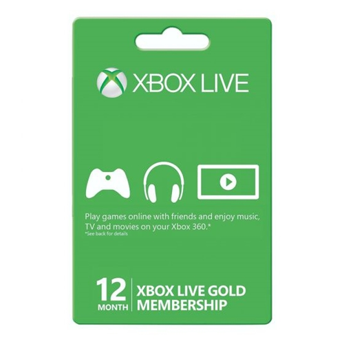מנוי XBOX LIVE GOLD 12 MONTHS