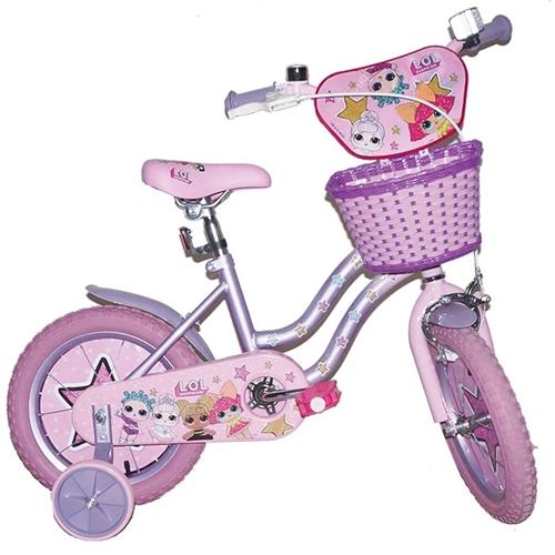 """אופניים לילדים עם גלגלי עזר מידה """"14 -לול LOL"""