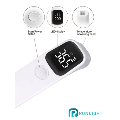 מד חום למצח ללא מגע אינפרה-רד R1D1-FD-LED