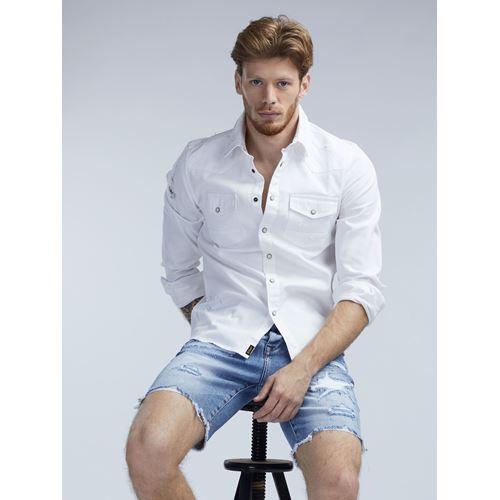 חולצת ג'ינס לבנה 100% כותנה