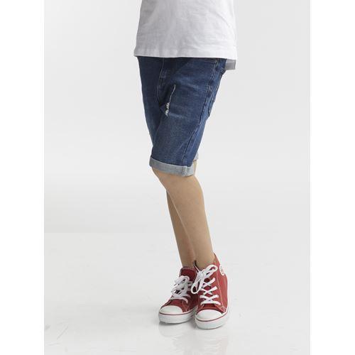 מכנסי ברמודה ג'ינס כחול
