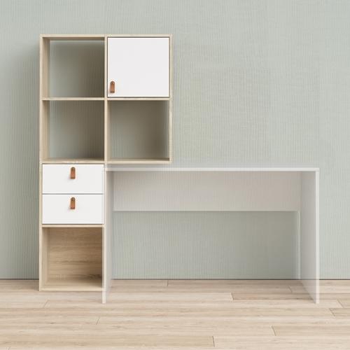 עמדת עבודה עם שולחן כתיבה וספרייה תוצרת דנמרק