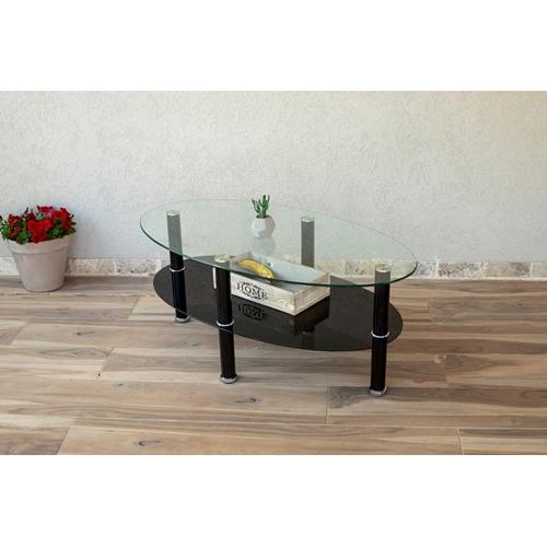 שולחן סלון מזכוכית דגם מיאמי