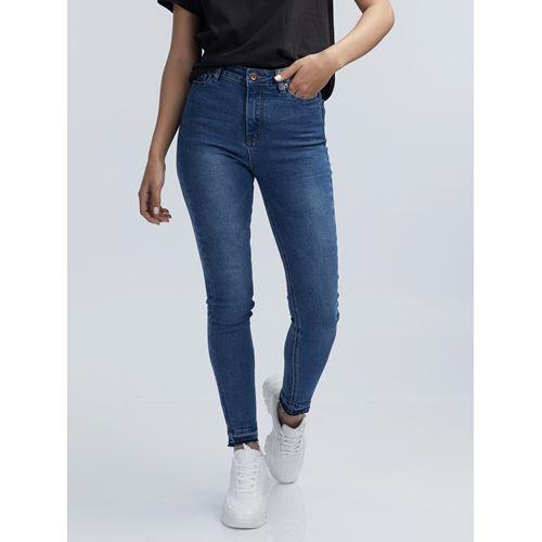 ג'ינס סקיני כחול סופר גבוה